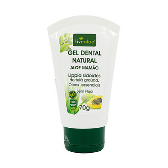 Gel Dental Natural Aloe Mamão - Livealoe - 70g