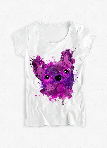 Camiseta Feminina Bulldog Francês - Dog in Art 4d891aea0f11e
