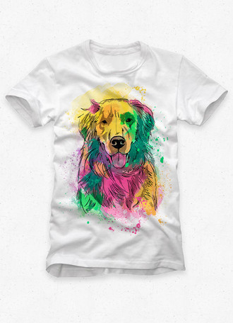 Camiseta Masculina Golden Retriever