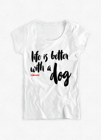 Camiseta Feminina Life is Better