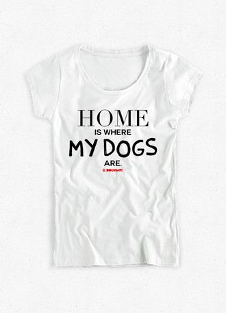 Camiseta Feminina Home Is...