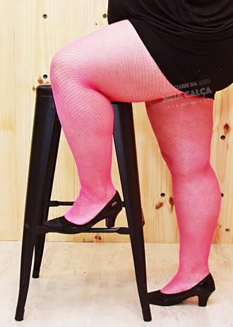c8e0c5f16 Meia Plus Size Arrastão - Pink