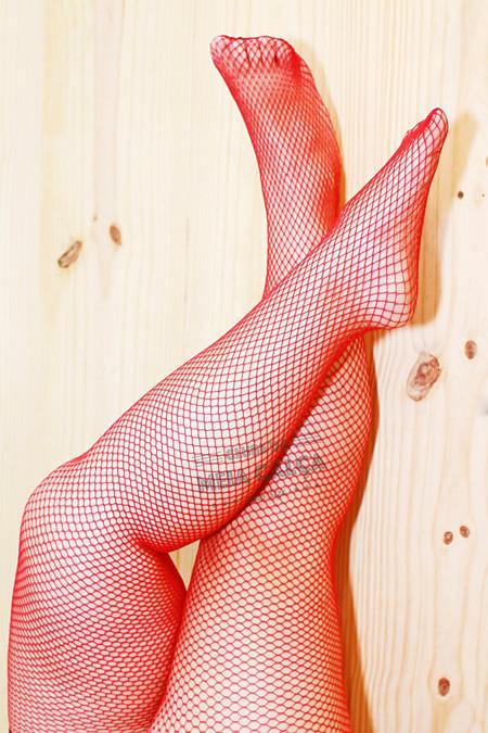 a01d62bd6 Meia Plus Size Arrastão - Vermelha - Clube da Meia Calça