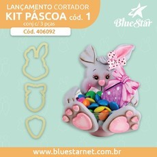 Cortadores Kit Páscoa cód 01 - Blue Star