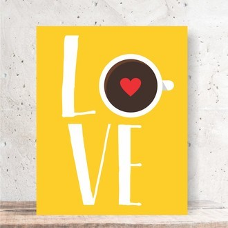 Quadro Decorativo - LOVE CAFÉ