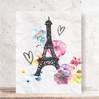 Quadro Decorativo - TORRE EIFFEL AQUARELA