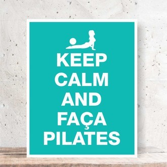 Quadro Decorativo - KEEP CALM PILATES