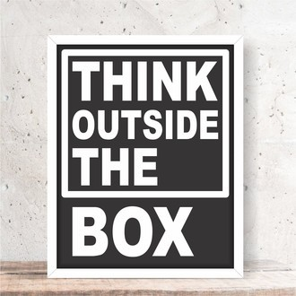 Quadro Decorativo - OUTSIDE THE BOX