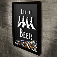 Quadro Porta Tampinhas - Beatles -  Let it Beer 1