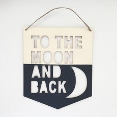 "Placa ""TO THE MOON AND BACK"""