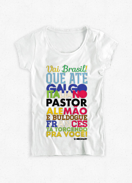 Camiseta Feminina Dog in Copa!