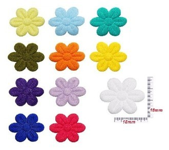 Aplique Ultrassom Flor 18mm pct.20 unidades