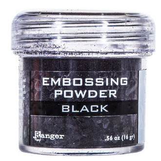PÓ PARA EMBOSS - EMBOSSING POWDER RANGER - BLACK