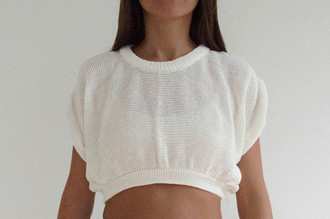 Blusa Pin Tuck Cropped Branca