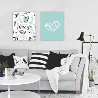 Kit de Quadros Decorativos - I LOVE YOU