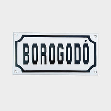 "Placa Decorativa ""BOROGODÓ"" P&B 10x20"