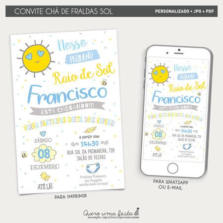 Convite Cha De Fraldas Sol