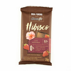 Chocolate Boa Forma Hibisco com Morango (25g) - Chocolife