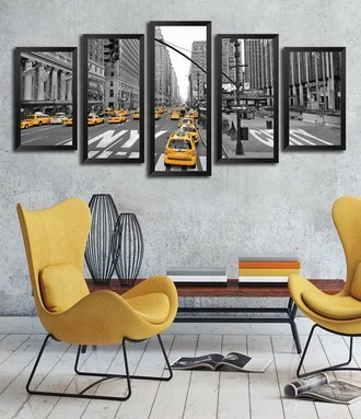 Mosaico de Quadros - New York Taxis