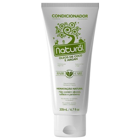 Condicionador Natural com Óleos de Coco e Argan (200ml)