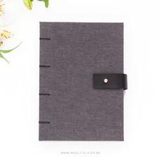 Sketchbook para Aquarela - Chambray + preto