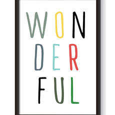 Quadro com Gravura Wonderful