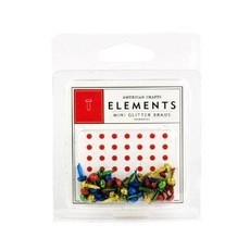 MINI BRADS AMERICAN CRAFTS - PRIMARIES GLITTER