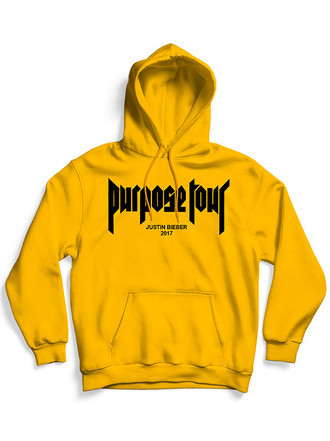Moletom Justin Bieber Purpose Tour (Amarelo)