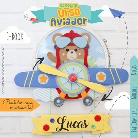 E-Book Urso Aviador com Movimento