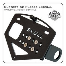 Suporte de placas lateral para Breakout / Softails 2018 up
