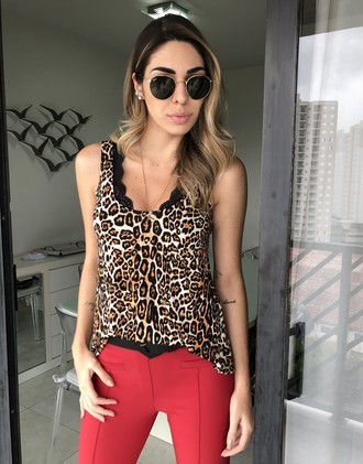 Regata podrinha animal print