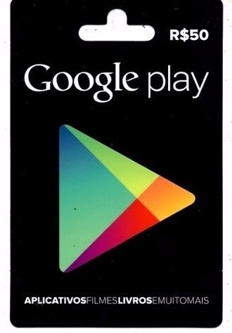 Gift Card GOOGLE PLAY (R$50)