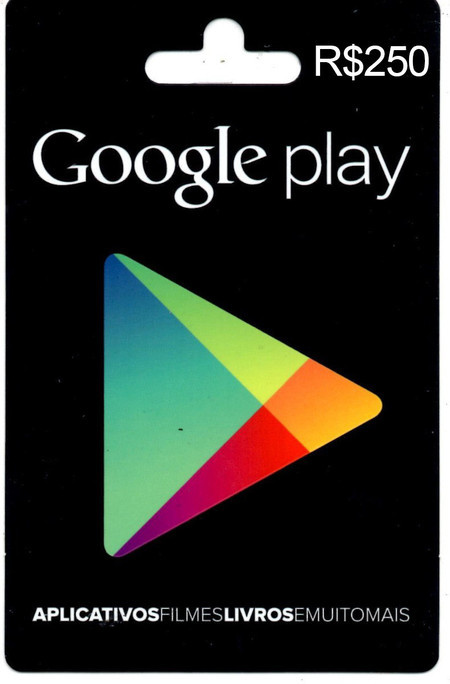 Gift Card GOOGLE PLAY (R$250)