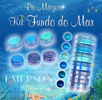 Pó mágico - kit Fundo do Mar