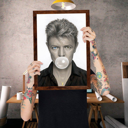Quadro David Bowie Chiclete