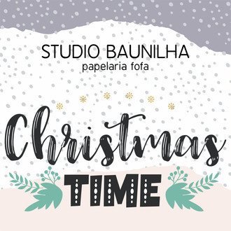 Kit Digital Christmas Time para Planners e Scrapbooking
