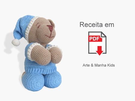 Vanessa Lovatel - Artes Feito à Mão: Urso com cachecol amigurumi ... | 338x450