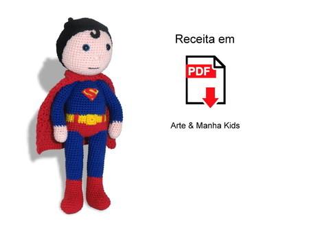 Super Homem de crochê amigurumi no Elo7 | Ateliê Danielle ... | 338x450