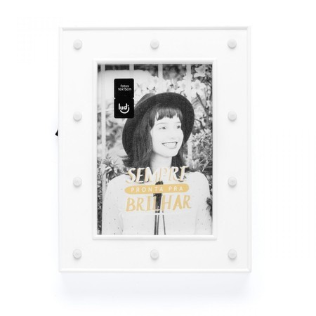 Porta retrato LED Camarim branco