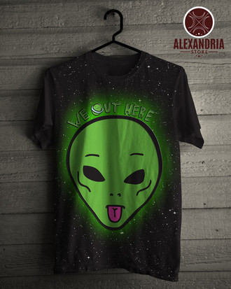 Camiseta Alien Green