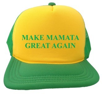 Boné Make Mamata Great Again Amarelo e Verde
