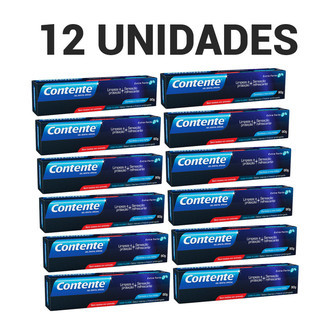 Kit 12 un. Gel Dental Contente Extra Forte - pague 11,leve 12
