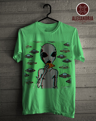 Camiseta Alien Pizza