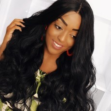 Lace Front wig swiss lace wig - Angel