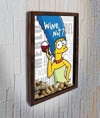 Quadro Porta Rolhas - Marge - Wine not