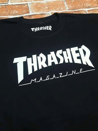 THRASHER LOGO WHITE