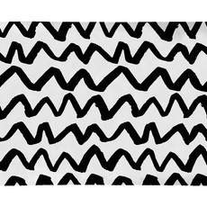 Tapete Veludo Chevron Black - 1.25m x 0.80m