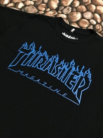 THRASHER FLAME BLUE