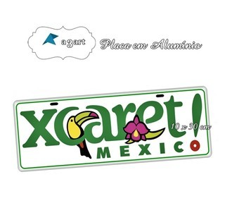 Placa de Carro Decorativa da Cidade do México Xcareti