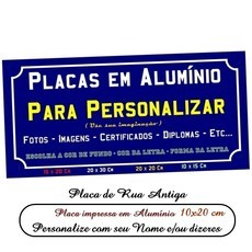 Placa de Rua Decorativa Personalizavel